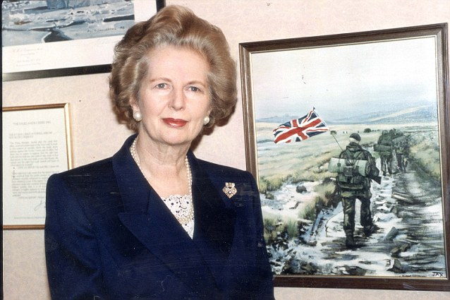 After the success in the Falkland's, Thatcher was determined that we should play a full part on the world stage