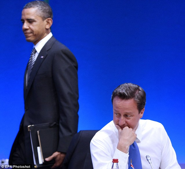 The great divide: Barack Obama may drop David Cameron to join with France¿s Francois Hollande