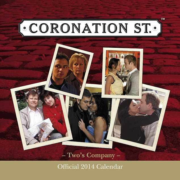 Still there: Shamed actor Chris Fountain still features in the Coronation Street calendar for 2014
