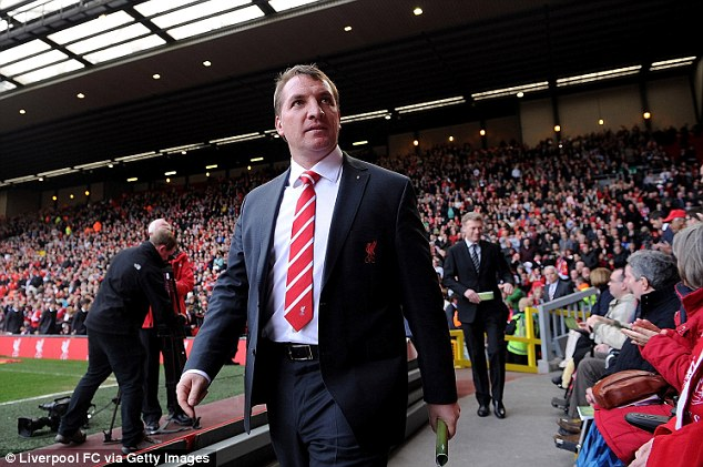 Champions League ambitions: Rodgers is looking to lead Liverpool back into the top four