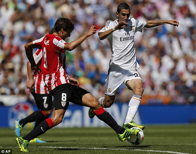 Leaving: Angel Di Maria could also be on his way out of Real Madrid