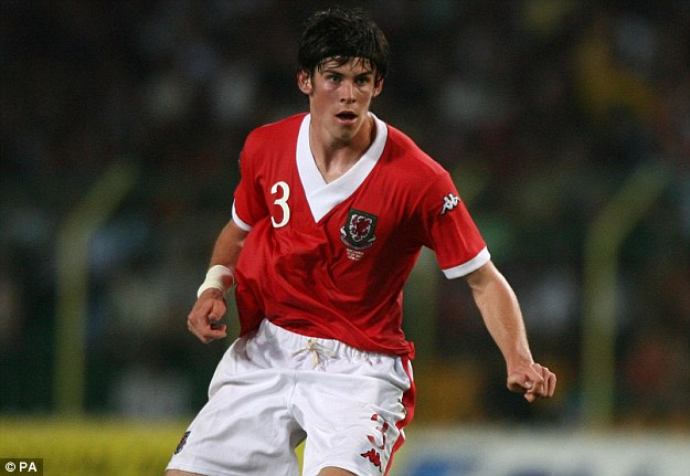 Bale in action for Wales