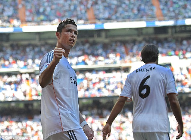 Big stage: Bale will join a host of world stars at Real Madrid, including Cristiano Ronaldo