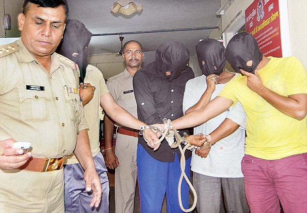 Arrested: The Noida Police arrested the four accused, including two policemen. A hunt for the fifth accused is ongoing
