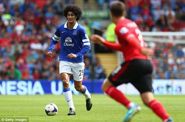 Target: David Moyes is hoping to complete a £23m deal for Marouane Fellaini from Everton
