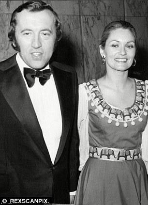 Sir David Frost with Actress Alexandra Bastedo