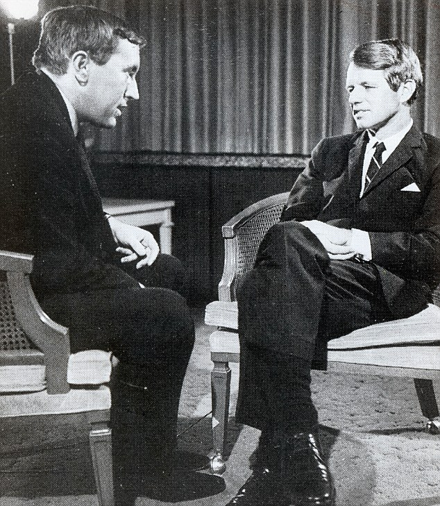 Sir David interviewing Bobby Kennedy shortly before he died in 1968. He was campaigning for the Democratic Party's nomination for the presidency