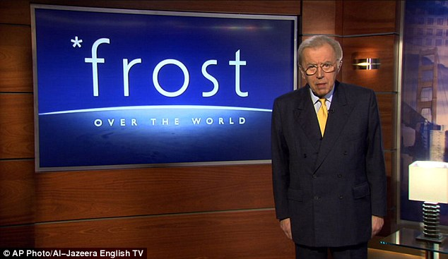 He presented the show Frost Over the World on Al-Jazeera English TV for six years until 2012