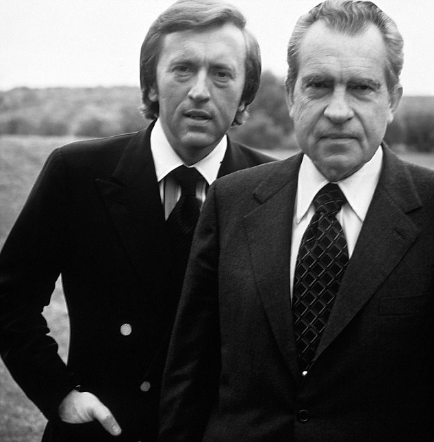 Mr Frost became famous after interviewing President Nixon. The politician was forced to admit that he had taken part in the infamous Watergate scandal