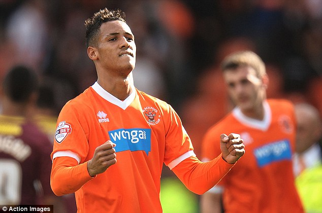 On the move? Blackpool's Thomas Ince is the most highly rated player in the Championship