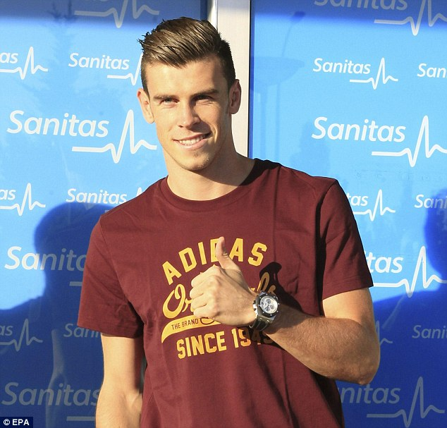 He's here: Bale arrives in Madrid for a medical ahead of his unveiling at the Bernabeu