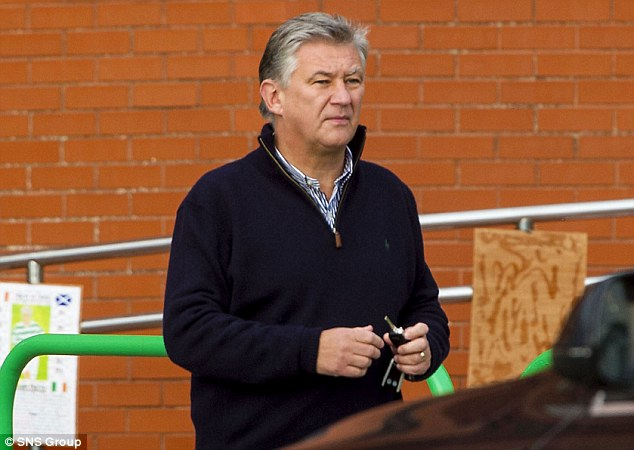 No chance: Fry phoned Celtic chief executive Peter Lawwell (pictured) to tell him Tomlin was staying