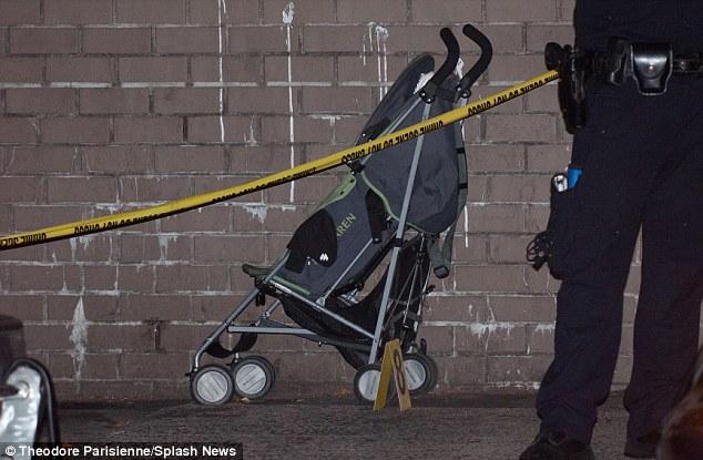 Shocking: One-year-old Antiq Hennis was shot in this stroller