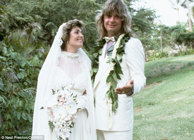 Black Sabbath rock star Ozzy Osbourne married Sharon Arden in Hawaii, in 1982, with Sharon looking markedly different to how she does now