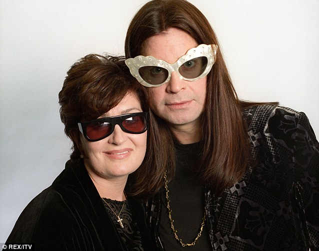 Sharon and Ozzy posed in Elton John's  famous glasses in 1997
