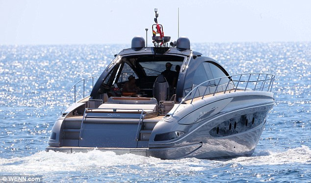 The glamorous life: David and his lunch party head off to their expensive digs in St Tropez