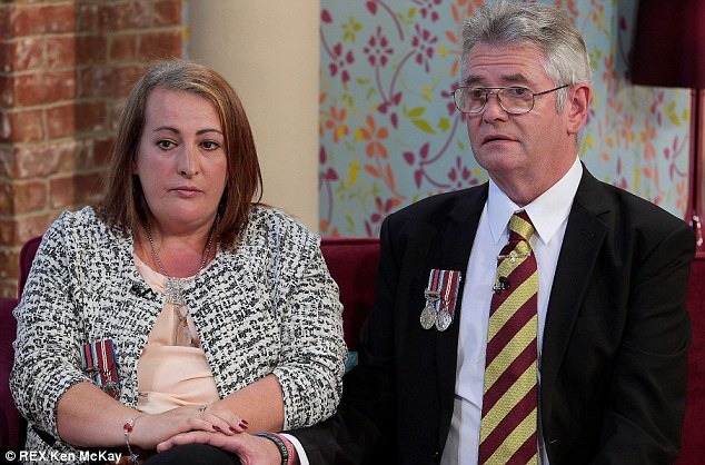 Trauma: Lee Rigby's mother Lyn and step-father Ian spoke on ITV's This Morning today for the first time about the harrowing moment when they realised their son had been murdered