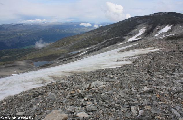 The Lendbreen glacier