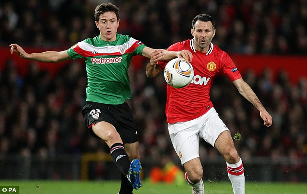 Talent: Herrera, playing against United above, is still considered as a target by David Moyes for January
