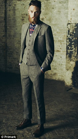 Caledonian: Other Scottish favourites such as tweed and tartan featured heavily in formal wear
