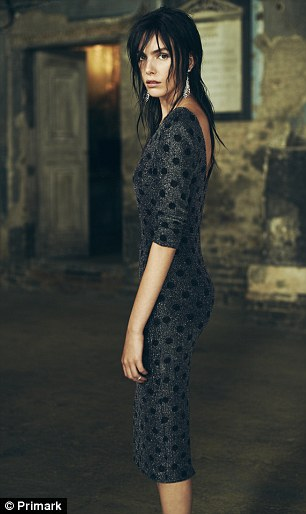 Key trend: Black lace, a big trend for autumn, features heavily