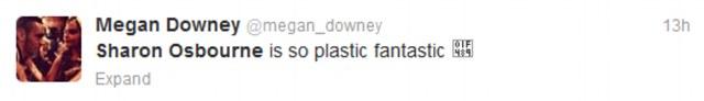 Twitter reaction to Sharon Osbourne on the X Factor