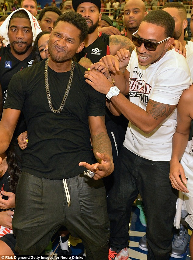 Usher wins! But in the end the Love in This Club crooner's team won against the Area Codes rapper's team at the GSU Sports Arena Sunday