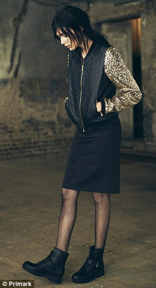 Glittering: Sequin details add glamour to the look