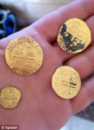 Precious: The gold comes from a shipwreck in 1715, when a fleet of Spanish ships were hit by a storm