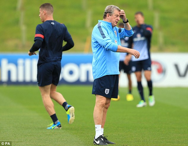 Head scratcher: Hodgson and others at the FA are trying to work out how to keep the England team stocked full of talent