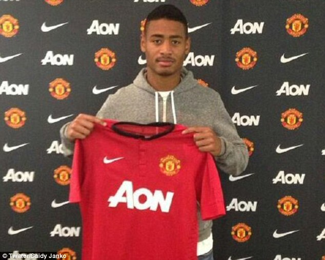 New kid on the block: Janko, 17, has signed for Manchester United from FC Zurich