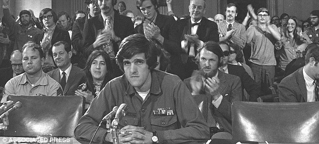 At age 27, John Kerry was a former navy lieutenant who led Vietnam Veterans Against the War. He testified in 1971 before the Senate Foreign Relations Committee