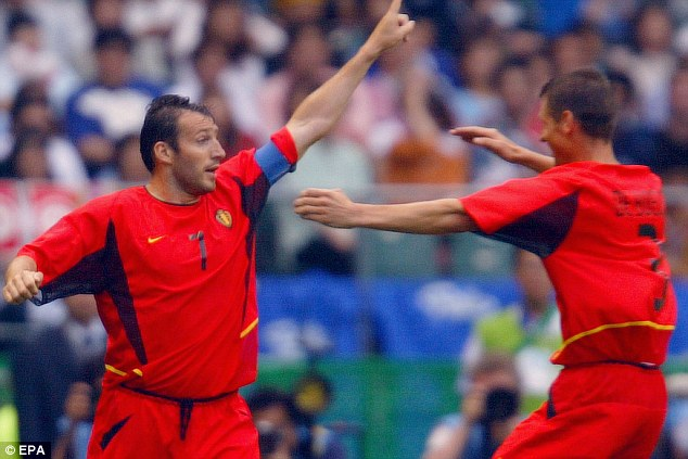 Different style: And although there was some encouragement when reaching the World Cup in 2002, one man knew something had to be done...