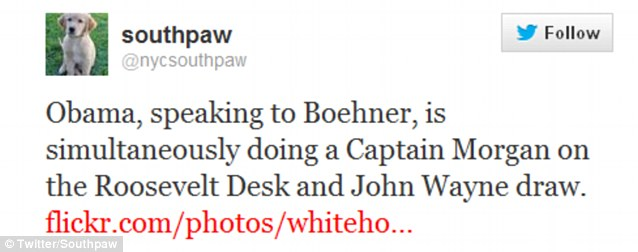 One New York City lawyer tweeted that Obama had a little 'Captain' in him, and a bit of the Duke as well