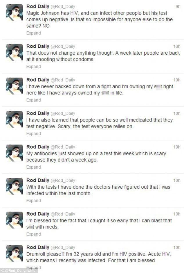 Out in the open: Daily announced his positive diagnosis on Twitter last week