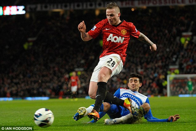 Out in the cold? Alexander Buttner is to remain at United for now, despite being close to joining Besiktas