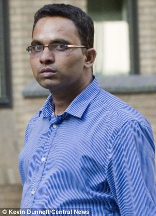 Accused: Kishore Nimmala allegedly stole his date's mobile phone when she refused to pay her way at an expensive London bar