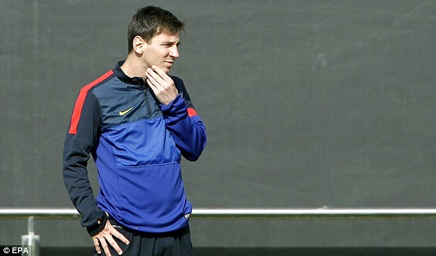 Corrective: Messi and his father have paid the £4.2million to the Spanish authorities
