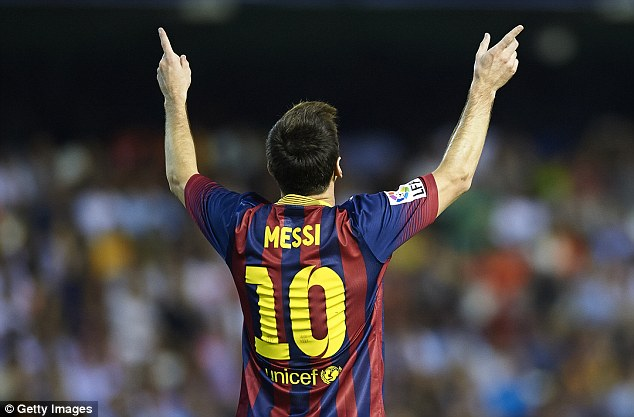 Earner: Messi earns around £13million in endorsements each year, as well as £13million in wages