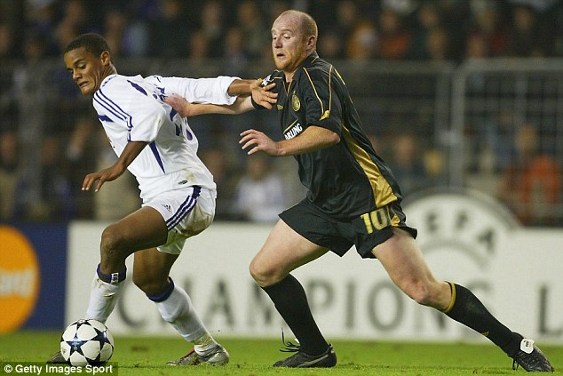 Time: Slowly but surely, players started to be produced, some in Belgium, like Vincent Kompany (left, with Celtic's John Hartson