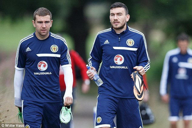 Hope? James McArthur (left) and Robert Snodgrass (right) are two of Scotland's most influential players