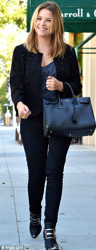 From casual to classy: Ashley Benson worked up a sweat in the gym early on Thursday morning before switching to heavy make-up and a chic ensemble as she went out for lunch in Los Angeles