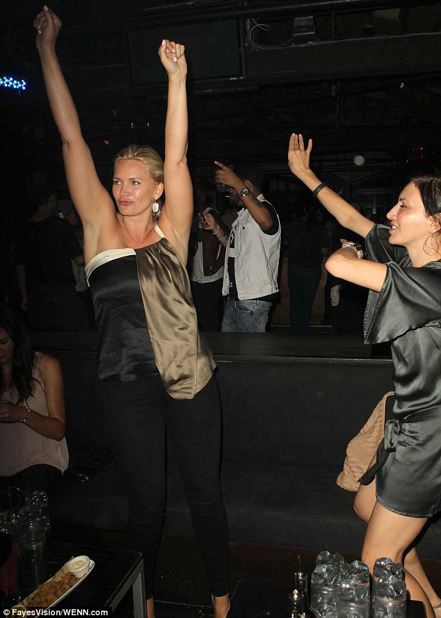Well, she's single now! Natasha Henstridge showed off her dance moves as she enjoyed a night out after announcing her split from husband Darius Campbell in July