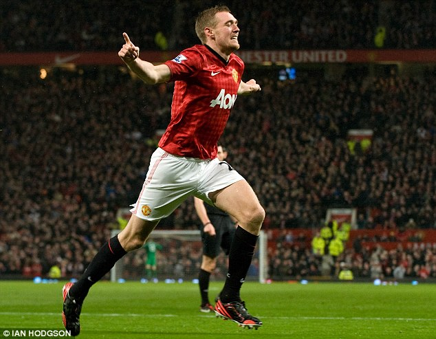 Battling back: Darren Fletcher is in the Manchester United squad. He last played on Boxing Day 2012