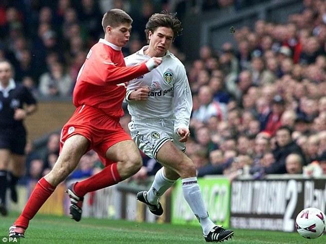 Future hero: Gerrard burst onto the scene at the end of the 1990s, and has played 634 times for Liverpool