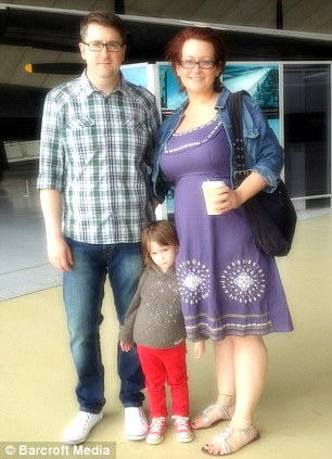 Charmaine with her fiance Mike and her daughter Poppy after her gastric bypass operation in May