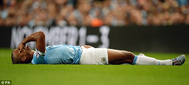 A big miss: Vincent Kompany injured his groin in the season opener against Newcastle