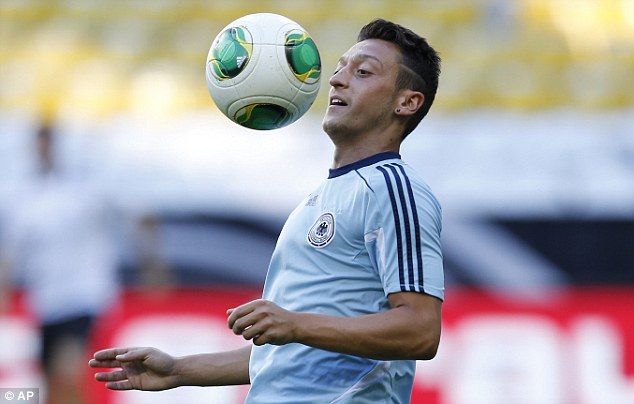Splash the cash: Arsenal signed Mesut Ozil from Real Madrid on transfer deadline day for £42.5m