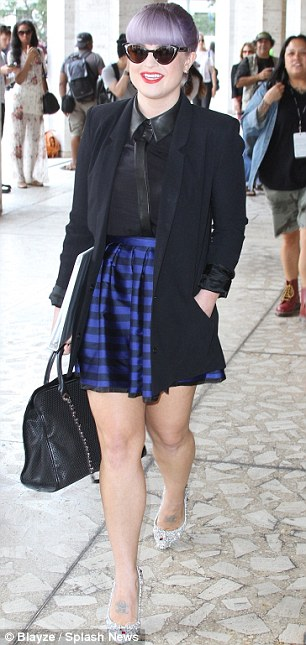 She's got the look: Kelly has her own style down pat, and was impeccable for the first day of Fashion Week