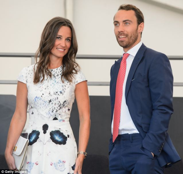 Star: Pictured here with brother James who also attended Marlborough, Pippa was a scholar at the college